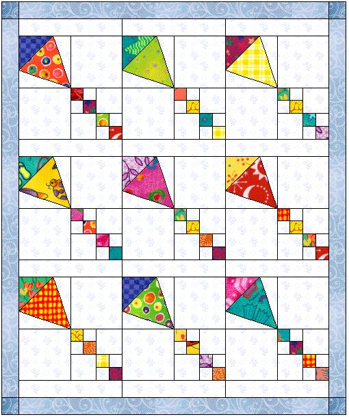 Block of the Month March 2006 : kite quilt pattern - Adamdwight.com